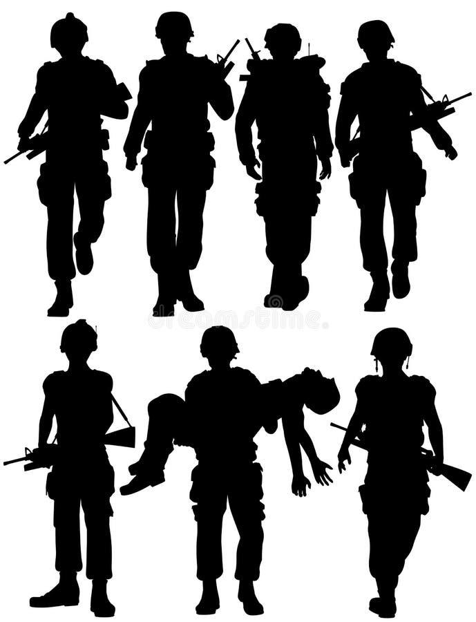στρατιώτες απεικόνιση αποθεμάτων