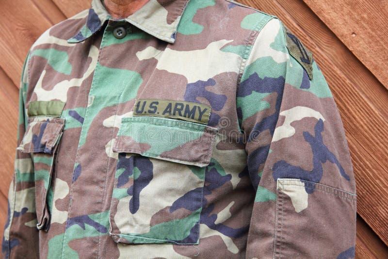 Στρατιώτης αμερικάνικου στρατού ομοιόμορφος στοκ εικόνες με δικαίωμα ελεύθερης χρήσης