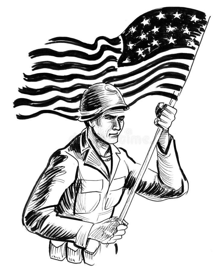 στρατιώτης αμερικανικών σ ελεύθερη απεικόνιση δικαιώματος