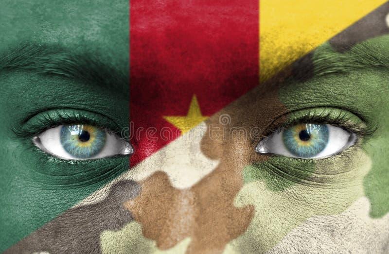Στρατιώτης από το Καμερούν στοκ φωτογραφία