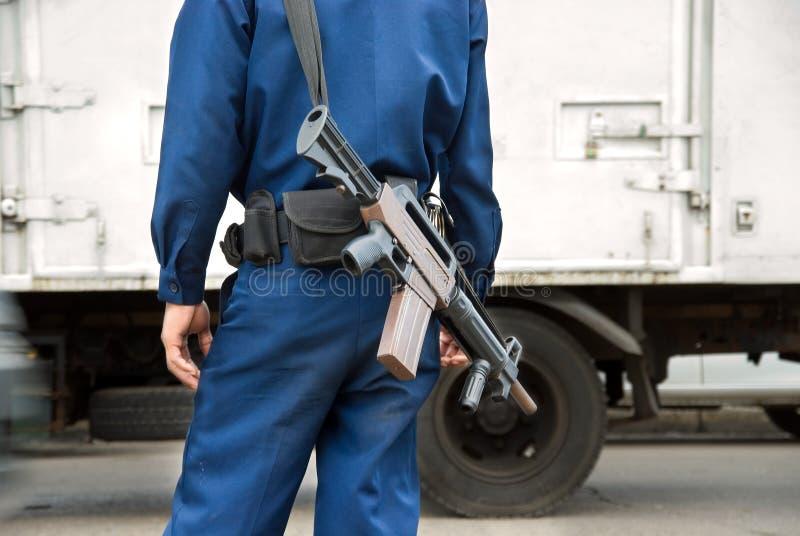 στρατιώτης μηχανών πυροβόλων όπλων στοκ εικόνες