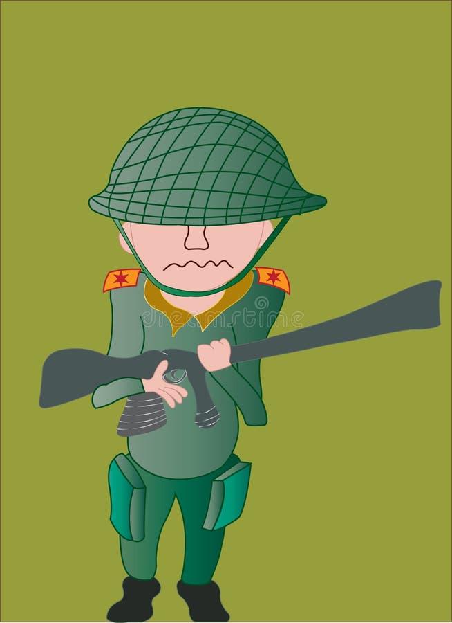 Στρατιώτης μωρών ελεύθερη απεικόνιση δικαιώματος