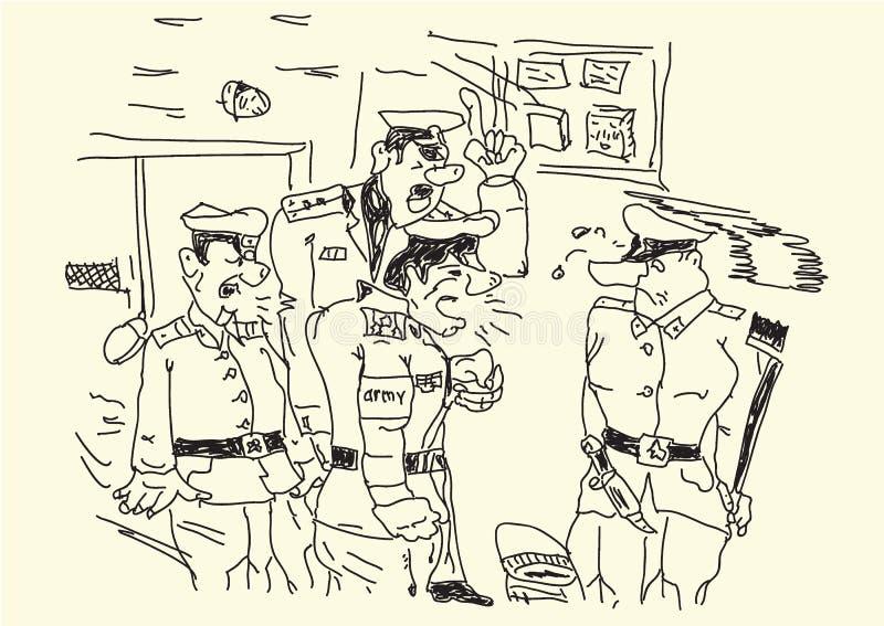 Στρατιώτης στο στρατό στο καθήκον απεικόνιση αποθεμάτων