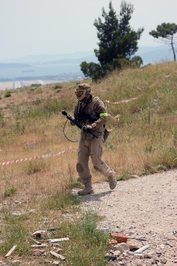Στρατιώτης σφαιρών χρωμάτων στοκ φωτογραφίες