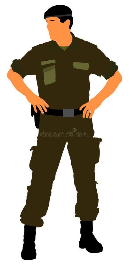 Στρατιώτης ` s στρατού Ξένος καπετάνιος διοικητών λεγεωνών απεικόνιση αποθεμάτων