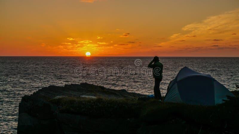 Στρατόπεδο ανατολής στην επικεφαλής αψίδα μούρων στη νέα γη, Καναδάς στοκ φωτογραφία με δικαίωμα ελεύθερης χρήσης