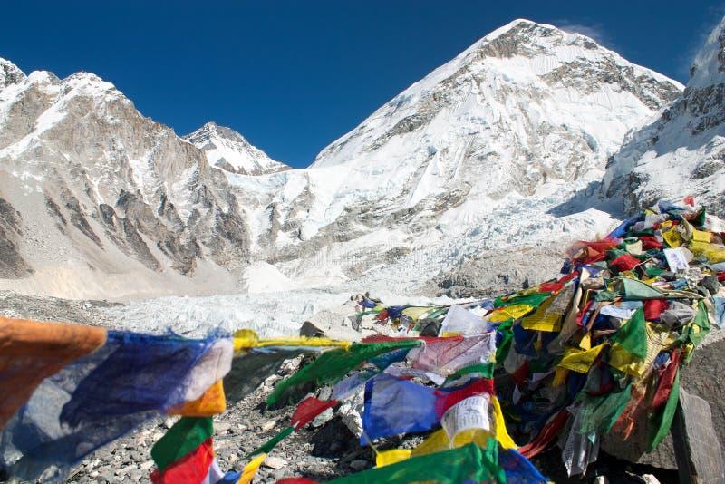 Στρατόπεδο βάσεων Everest στοκ εικόνα