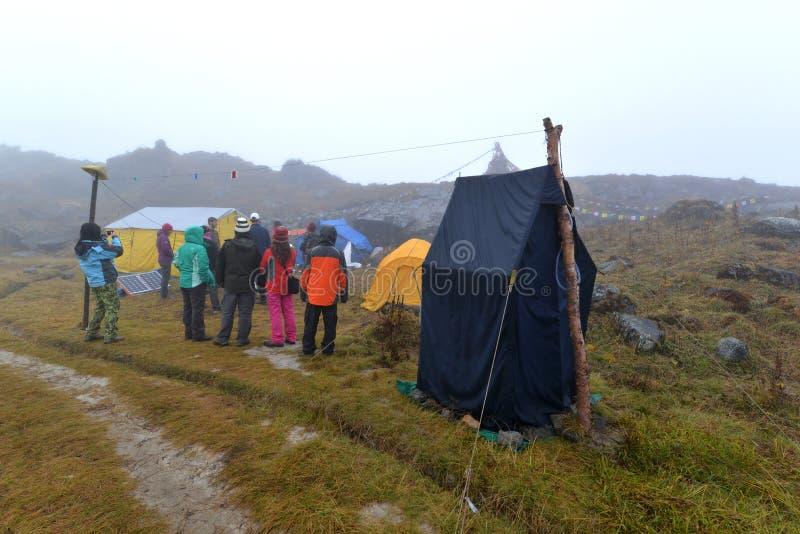 Στρατόπεδο βάσεων Annapurna, Ιμαλάια, Νεπάλ στοκ εικόνα με δικαίωμα ελεύθερης χρήσης
