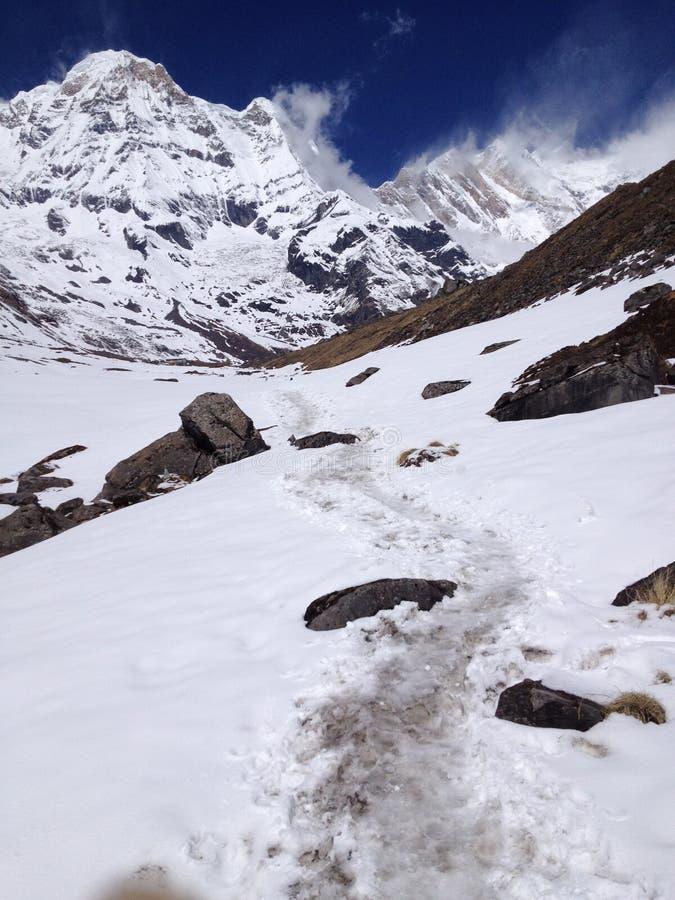 Στρατόπεδο βάσεων Annapurna στο Νεπάλ Ιμαλάια στοκ φωτογραφίες