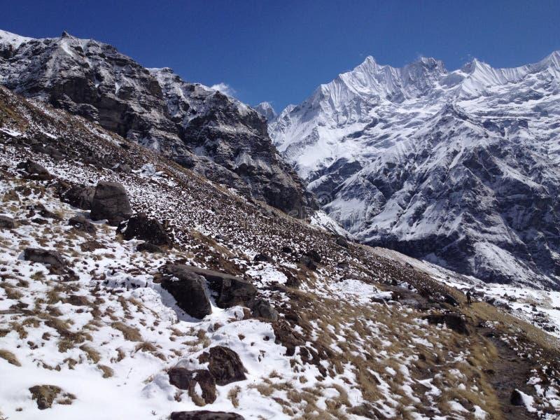 στρατόπεδο Νεπάλ βάσεων annapurn στοκ εικόνες με δικαίωμα ελεύθερης χρήσης