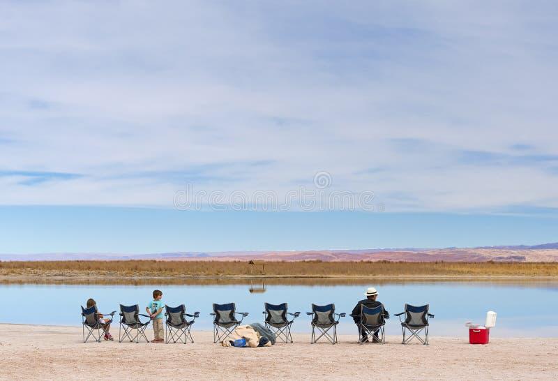 Στρατόπεδο τουριστών σε Atacama στοκ φωτογραφίες με δικαίωμα ελεύθερης χρήσης