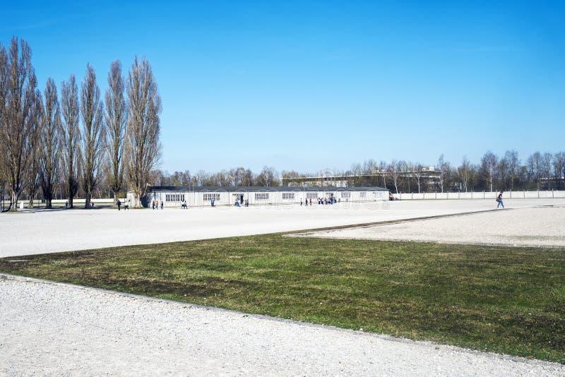 Στρατόπεδο Dachau, το πρώτο στρατόπεδο συγκέντρωσης στη Γερμανία κατά τη διάρκεια Worl στοκ εικόνα με δικαίωμα ελεύθερης χρήσης