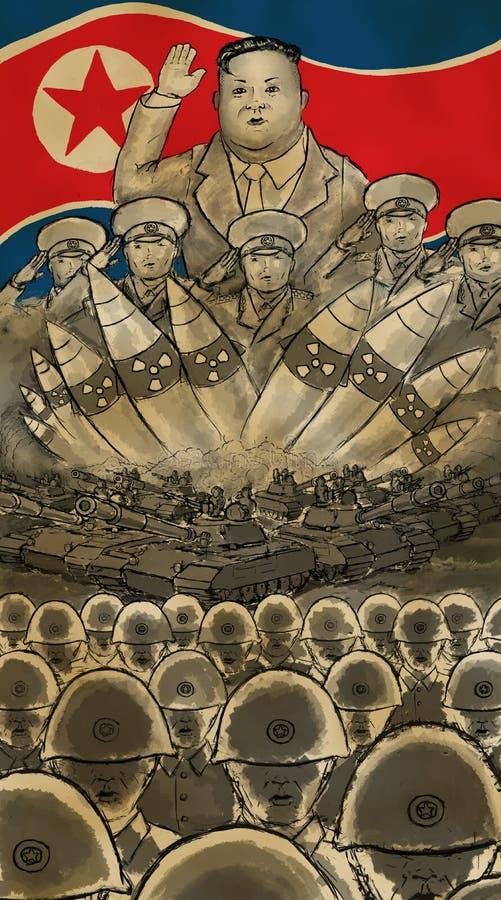 Στρατός των jong-Η.Ε της Kim διανυσματική απεικόνιση