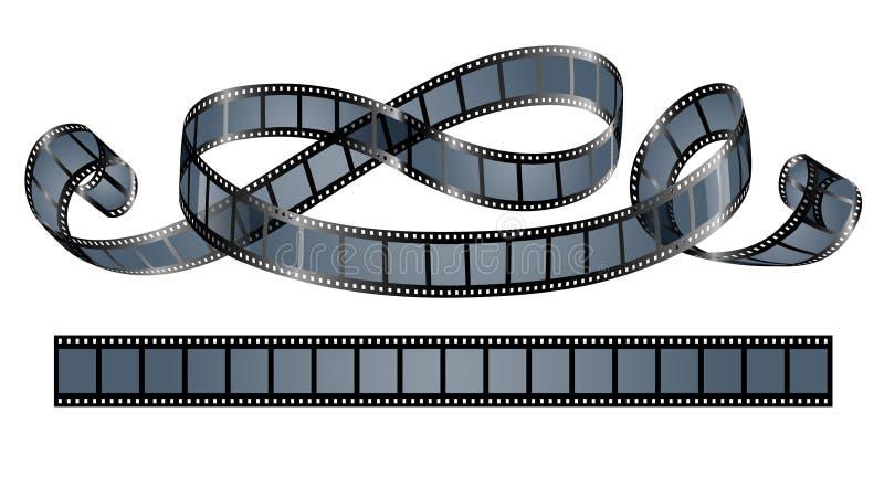 Στριμμένο εξέλικτρο ταινιών που απομονώνεται διανυσματική απεικόνιση