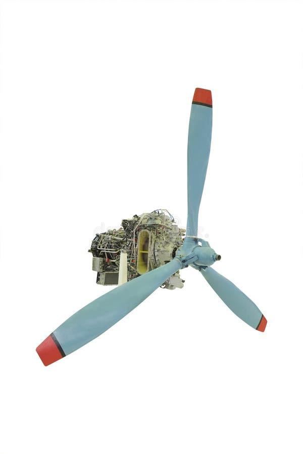 Στροβιλο αεριωθούμενη μηχανή με τον προωστήρα στοκ φωτογραφία με δικαίωμα ελεύθερης χρήσης