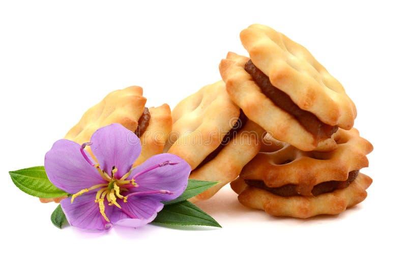 Στρογγυλά μπισκότα στοκ εικόνες