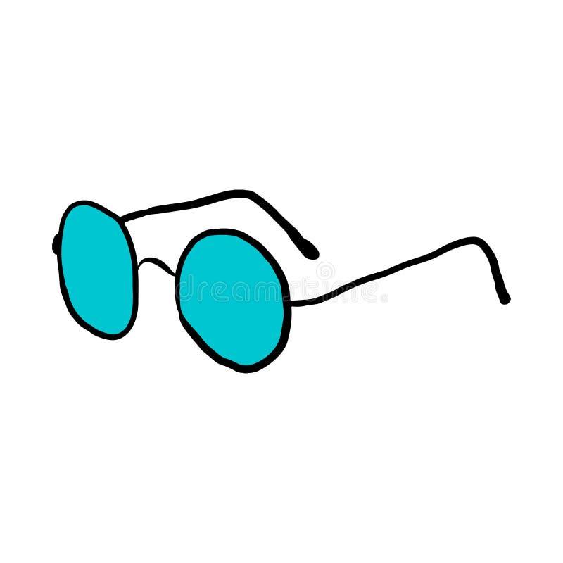 Στρογγυλή διανυσματική απεικόνιση γυαλιών επάνω απεικόνιση αποθεμάτων