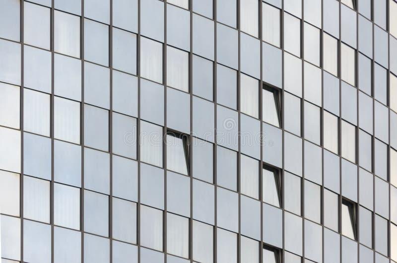 Στρογγυλευμένος τοίχος του επιχειρησιακού κτηρίου γυαλιού στοκ εικόνες