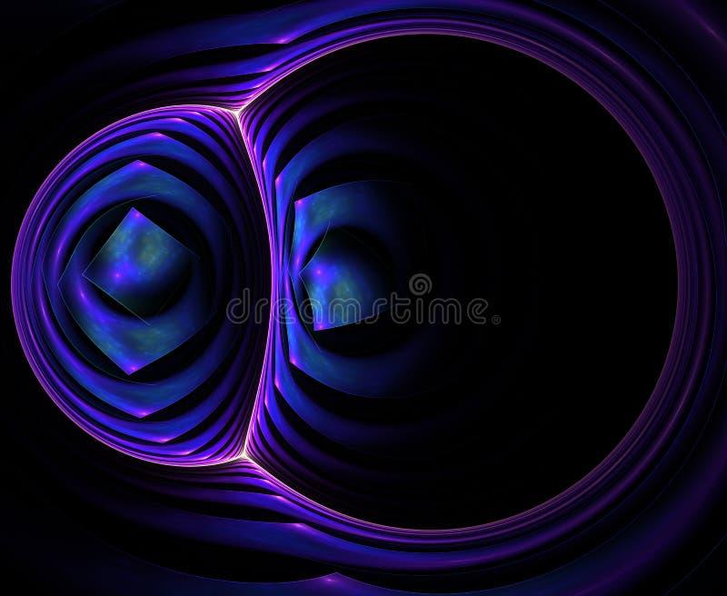 Στρογγυλευμένο αφηρημένο fractal διανυσματική απεικόνιση