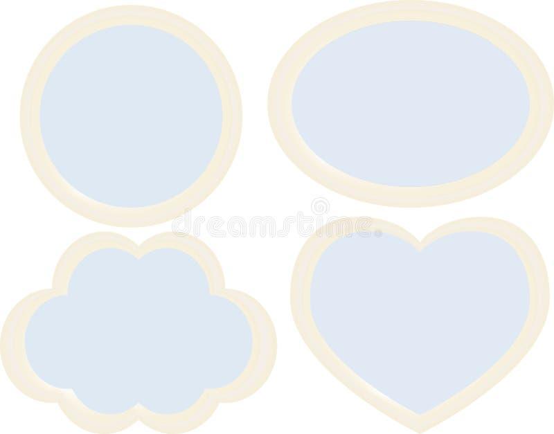 Στρογγυλευμένο ελεφαντόδοντο πλαισίων απεικόνιση αποθεμάτων