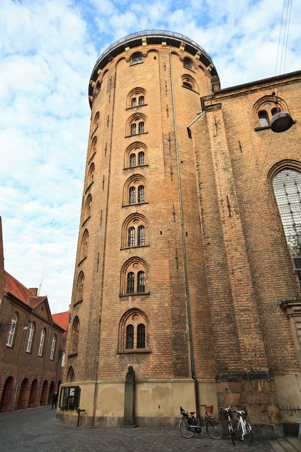 Στρογγυλός πύργος στην Κοπεγχάγη στοκ εικόνα