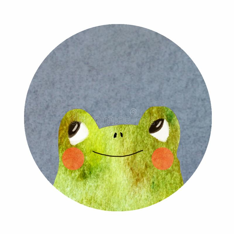 Στρογγυλό εικονίδιο με έναν βάτραχο απεικόνιση αποθεμάτων