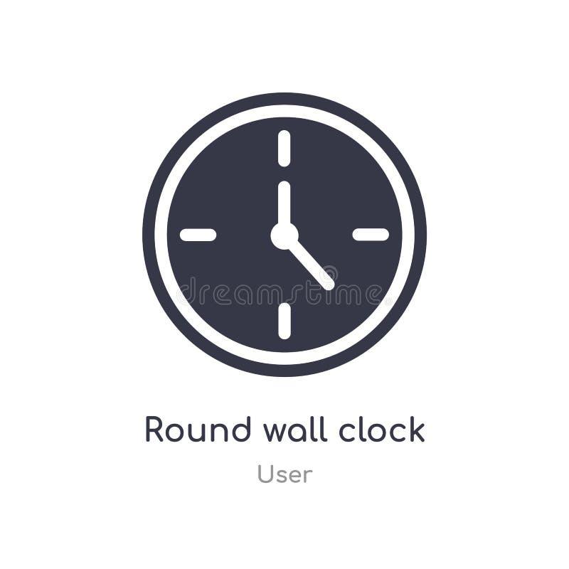 στρογγυλό εικονίδιο ρολογιών τοίχων απομονωμένος γύρω από τη διανυσματική απεικόνιση εικονιδίων ρολογιών τοίχων από τη συλλογή χρ απεικόνιση αποθεμάτων