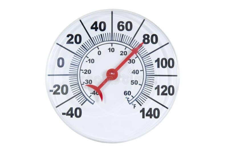 στρογγυλό θερμόμετρο στοκ φωτογραφίες