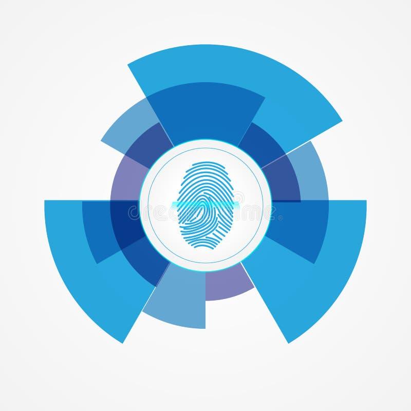 Στρογγυλό κουμπί του προσδιορισμού του προσώπου ελεύθερη απεικόνιση δικαιώματος