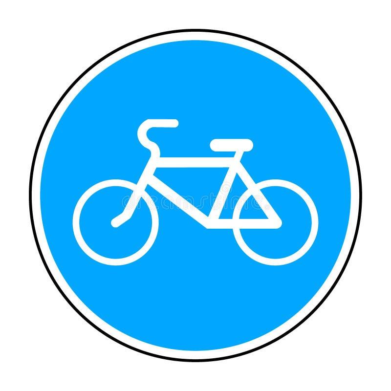 Στρογγυλό σημάδι ποδηλάτων απεικόνιση αποθεμάτων