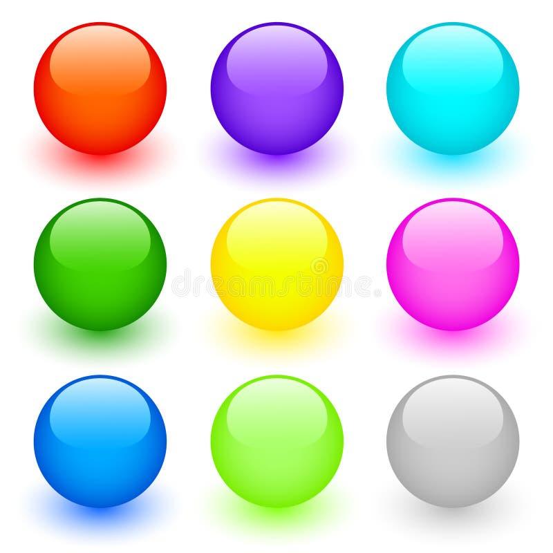 στρογγυλό σύνολο κουμπιών διανυσματική απεικόνιση