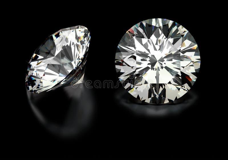 Στρογγυλά διαμάντια περικοπών απεικόνιση αποθεμάτων