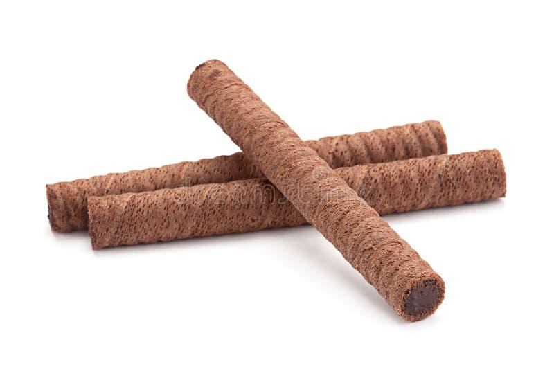 Στρογγυλές γκοφρέτες ραβδιών γλυκιάς σοκολάτας στοκ εικόνες με δικαίωμα ελεύθερης χρήσης