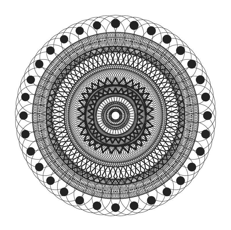 Στρογγυλή ζωηρόχρωμη διακόσμηση διανυσματική απεικόνιση