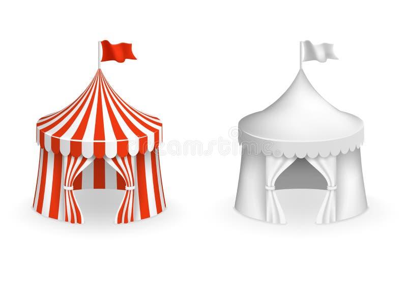 Στρογγυλή σκηνή τσίρκων Φεστιβάλ με τη διανυσματική απεικόνιση εισόδων διανυσματική απεικόνιση