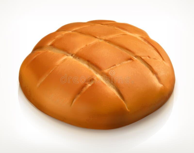 Στρογγυλό εικονίδιο ψωμιού απεικόνιση αποθεμάτων