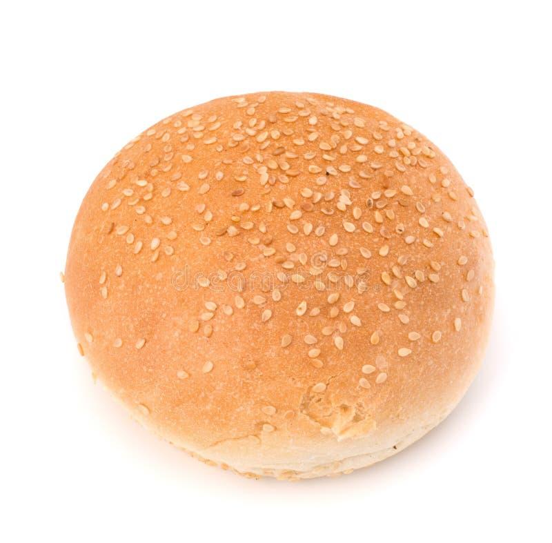 Στρογγυλό κουλούρι σάντουιτς με τους σπόρους σουσαμιού στοκ φωτογραφία με δικαίωμα ελεύθερης χρήσης