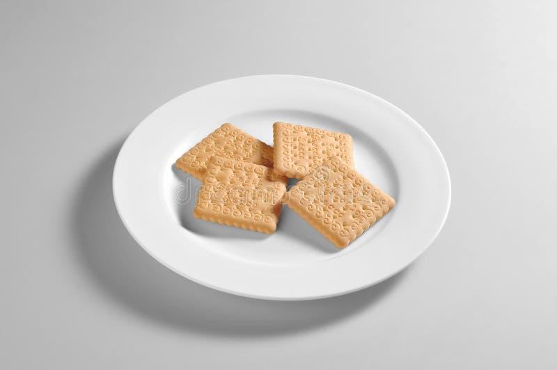 Στρογγυλό πιάτο με τα μπισκότα στοκ φωτογραφίες με δικαίωμα ελεύθερης χρήσης
