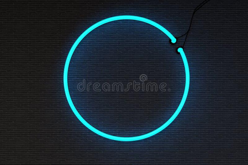 Στρογγυλό πλαίσιο σημαδιών Neoan στοκ φωτογραφίες με δικαίωμα ελεύθερης χρήσης