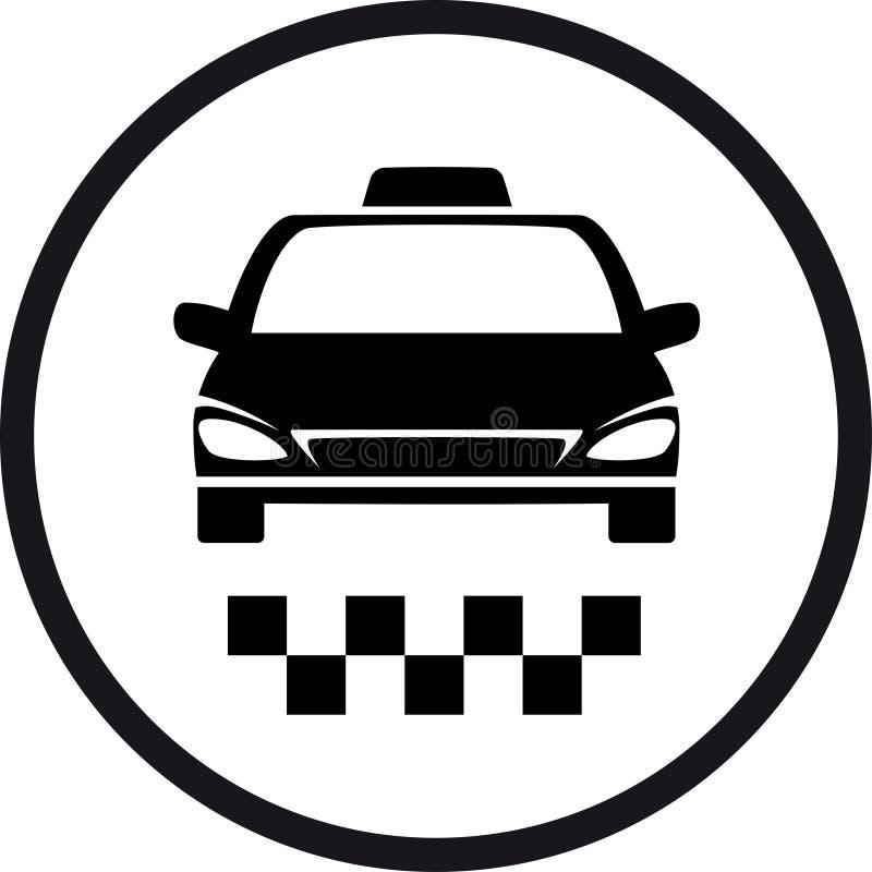 Στρογγυλό σημάδι ταξί απεικόνιση αποθεμάτων
