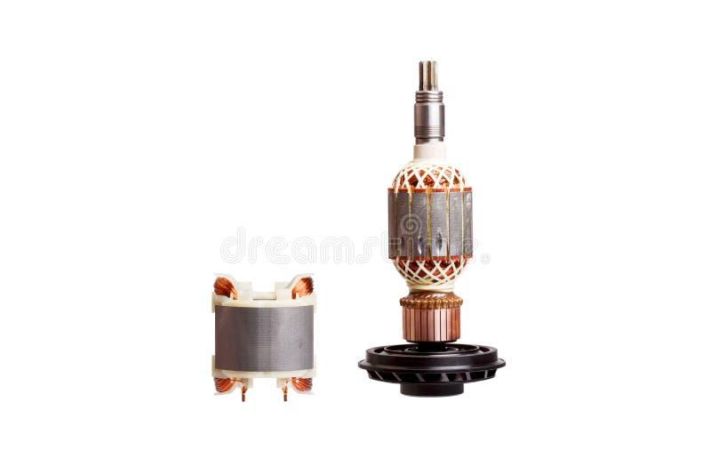 Στροφέας και στάτης - δύο μέρη του ηλεκτρικού κινητήρα στοκ φωτογραφία με δικαίωμα ελεύθερης χρήσης