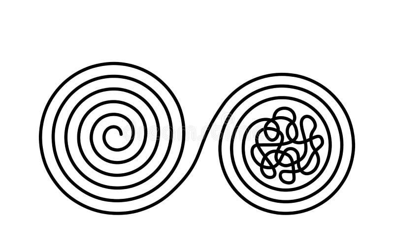 Στροφές χάους και αναταραχής σε μια διαμορφωμένη ακόμη και σύγχυση με μια γραμμή Θεωρία χάους και διαταγής r απεικόνιση αποθεμάτων
