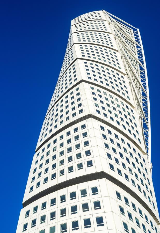 Στροφή του σύγχρονου ουρανοξύστη νεω-futurist κορμών στο Μάλμοε στοκ φωτογραφία με δικαίωμα ελεύθερης χρήσης