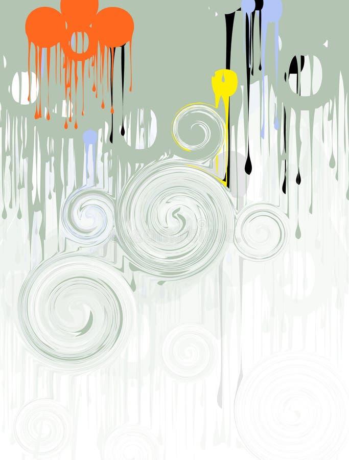 στρόβιλοι χρωμάτων σταλάγ&m Στοκ Εικόνα