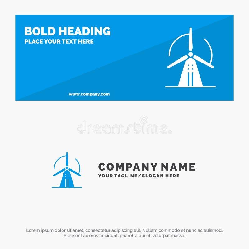 Στρόβιλος, αέρας, ενέργεια, στερεά έμβλημα ιστοχώρου εικονιδίων δύναμης και πρότυπο επιχειρησιακών λογότυπων απεικόνιση αποθεμάτων