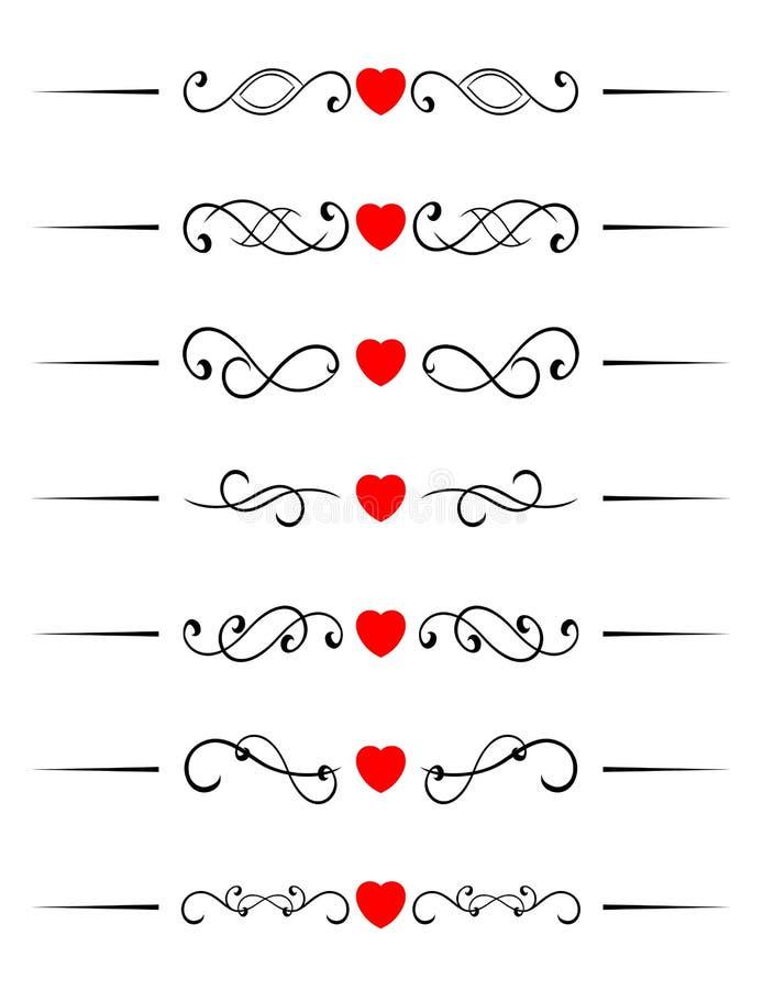στρόβιλος καρδιών στοιχ&eps διανυσματική απεικόνιση