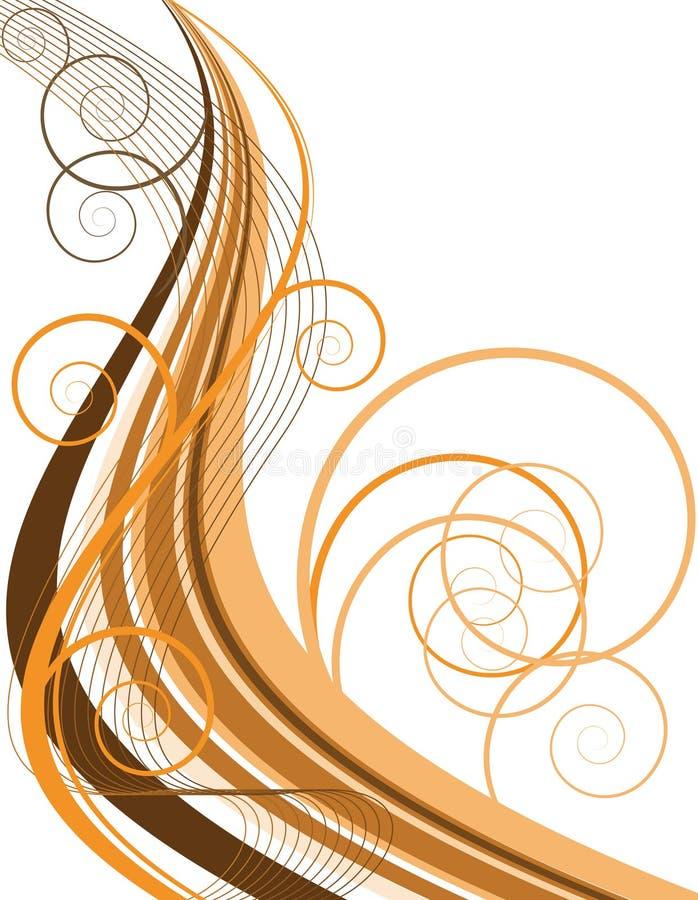 στρόβιλος σοκολάτας διανυσματική απεικόνιση
