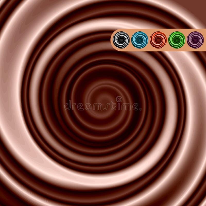 Στρόβιλος προϊόντων με το σκοτάδι παραλλαγών χρώματος διανυσματική απεικόνιση