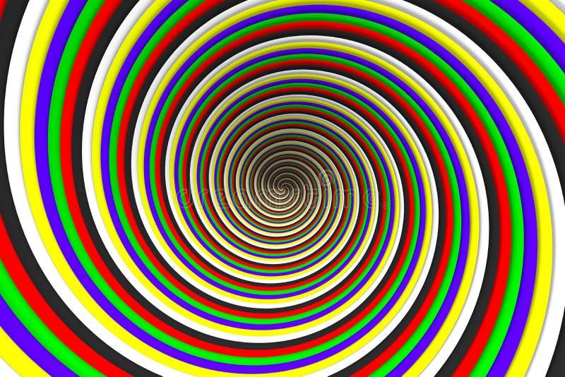 Στρόβιλος χρώματος απεικόνιση αποθεμάτων