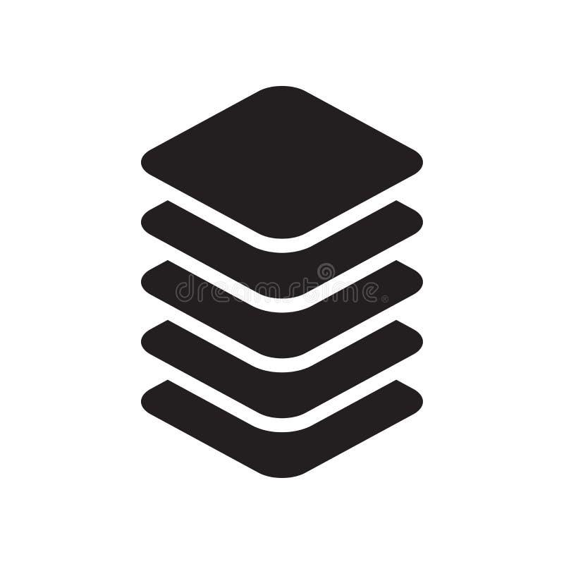 Στρώματος σημάδι και σύμβολο εικονιδίων διανυσματικό που απομονώνονται στο άσπρο υπόβαθρο διανυσματική απεικόνιση